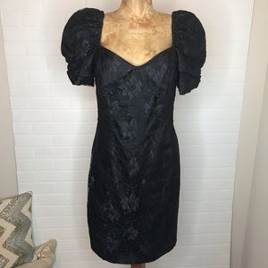 Vintage L.A. Glo 80's Cocktail Dress Sz 11/12 Lace